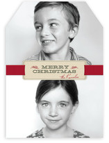 Christmas Ribbon Christmas Photo Cards