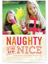 Naughty is Nice Christmas Photo Cards