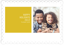 Modern Geometric Christmas Photo Cards