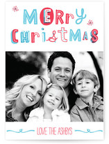 Quirky Merry Christmas Christmas Photo Cards