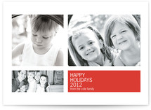 Modern Geometric Group Christmas Photo Cards