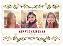 French Berries Christmas Photo Cards