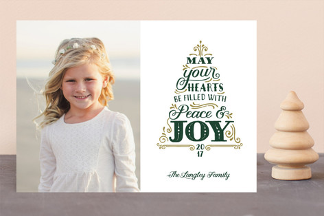 Joyful Tree Christmas Photo Cards