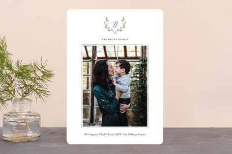 Delicate Wreath Christmas Photo Cards