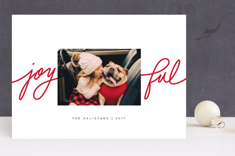 Playful Joy Christmas Photo Cards