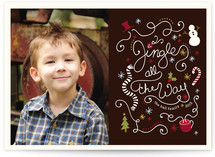 Jingling Script Christmas Photo Cards