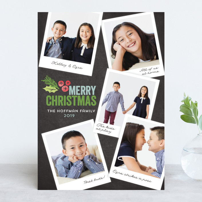 Family Snapshots Christmas Photo Cards