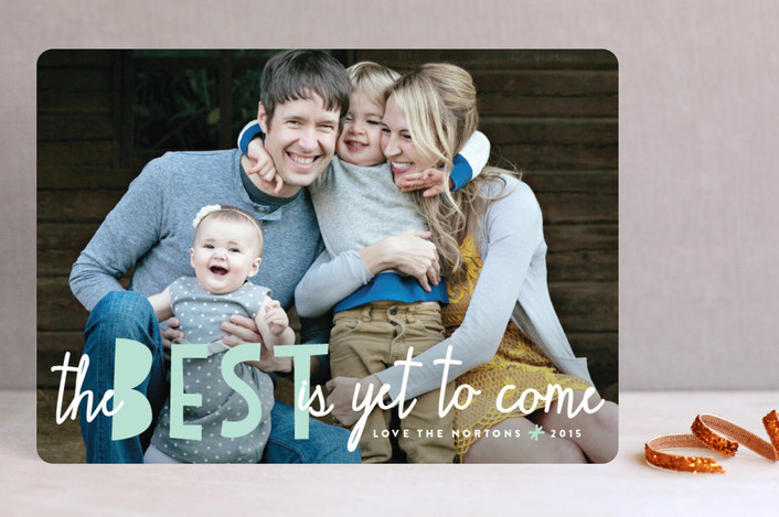Bright Future Christmas Photo Card | Minted