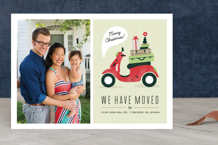 """""""Mod Move"""" - Modern, Funny Christmas Photo Cards in Evergreen by Kristen Smith."""