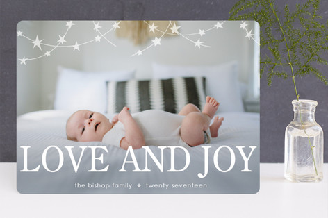 holiday starlight Christmas Photo Cards