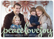 Type Frost Christmas Photo Cards