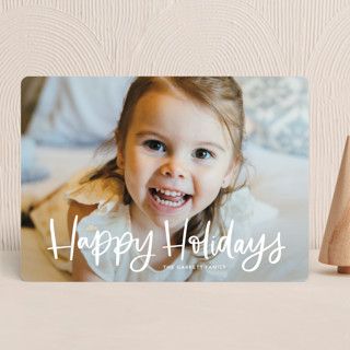 Modern Merry Greeting Christmas Photo Cards