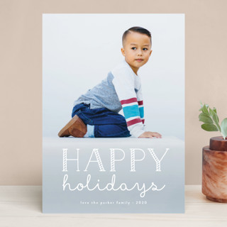 Candy Cane Merry Christmas Photo Cards