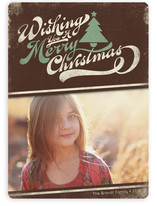 Merry Retro Christmas Christmas Photo Cards