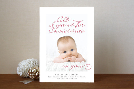 All I Want Christmas Photo Cards