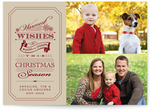 Warm Establishment Christmas Photo Cards
