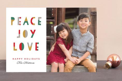 Hope Faith Love Fun Christmas Photo Cards