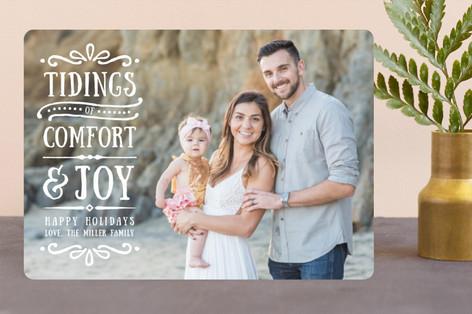 Comfort + Joy Christmas Photo Cards