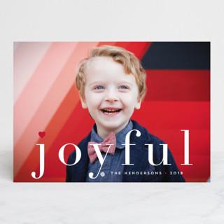 joy from heart Christmas Photo Cards