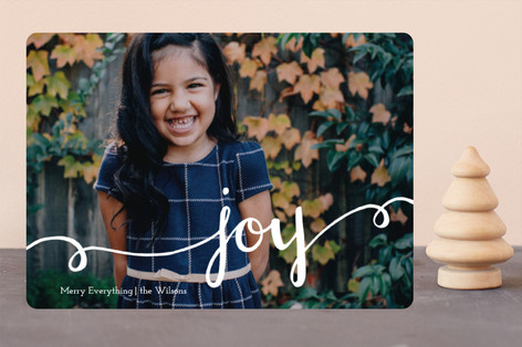 Hand Painted Joy Christmas Photo Cards