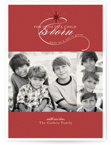 A child is born Christmas Photo Cards