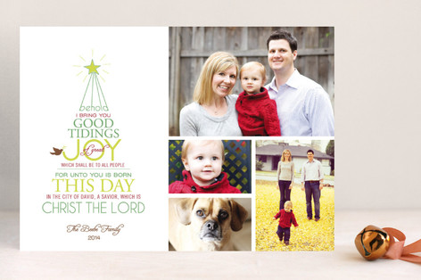 Good Tidings of Joy Christmas Photo Cards