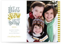 Snowfall Christmas Photo Cards