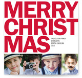 Four Square Christmas Photo Cards