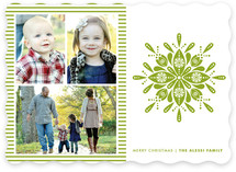 Nordic Snowflake Christmas Photo Cards