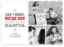 Don't Tell Santa Christmas Photo Cards