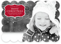 Vintage Label Christmas Photo Cards