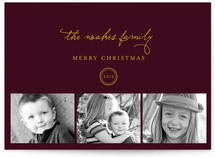 Classic Family Christmas Photo Cards