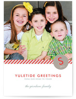 Yuletide Greetings Christmas Photo Cards