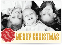 Retro Peace Christmas Photo Cards