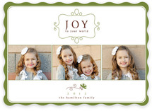 Simple Charm Christmas Photo Cards
