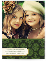 Christmas Damask Christmas Photo Cards