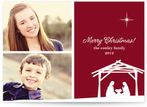 Away In a Manger Christmas Photo Cards