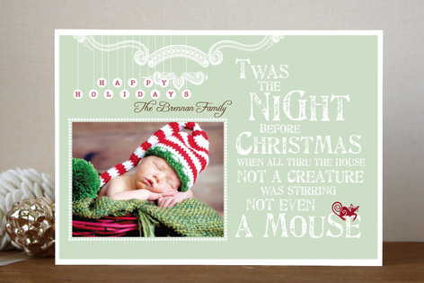 Mouse Christmas Photo Cards