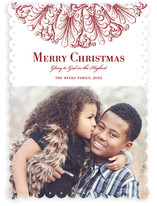 Round Flourish Christmas Photo Cards