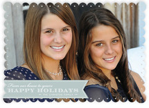 Red Ribbon Happiness Christmas Photo Cards