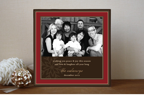 Snowflake Frame Christmas Photo Cards