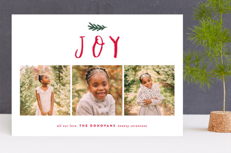 Happy crayon Christmas Photo Cards