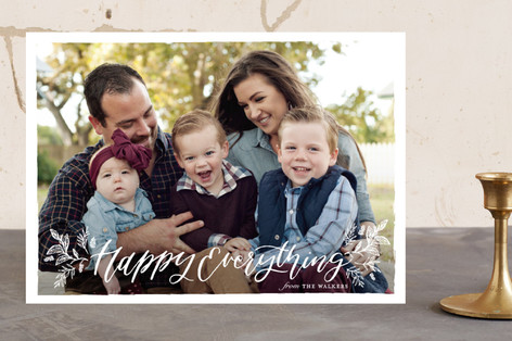 Merry Christmas Botanical Christmas Photo Cards