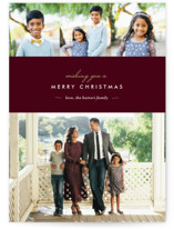 Winter Chic Christmas Photo Cards