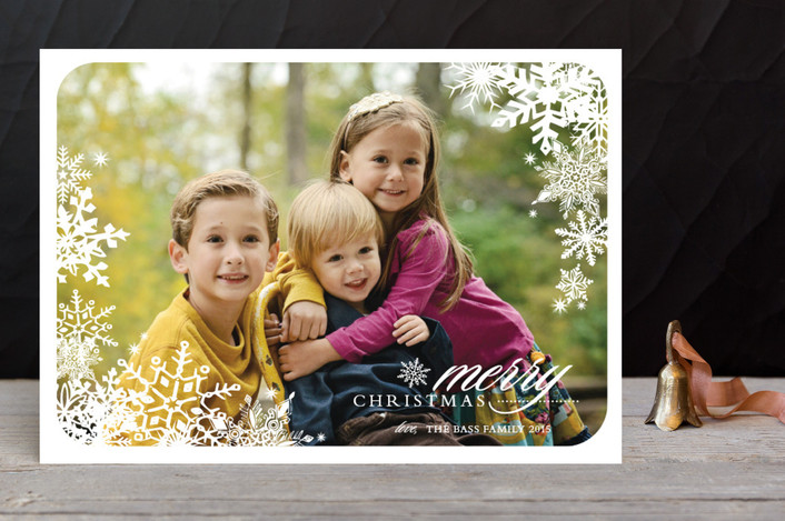"""Snowflake Window"" - Classical Christmas Photo Cards in Snow by Stacey Day."