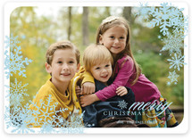 Snowflake Window Christmas Photo Cards