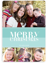 Bold Reflection Christmas Photo Cards