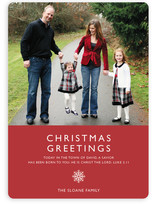 Modern Snowflake (Scripture) Christmas Photo Cards