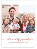 Beautifully Penned Christmas Photo Cards