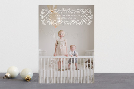 Seasonal Cross Stitch Christmas Photo Cards